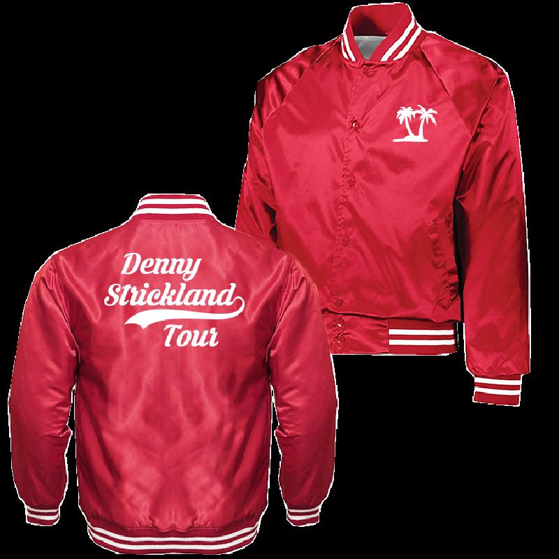 Denny Strickland Retro Red Satin Jacket