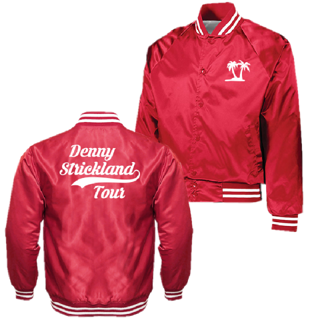 Denny Strickland Retro Red Satin Jacket